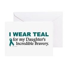 Teal For My Daughter's Bravery 1 Greeting Card