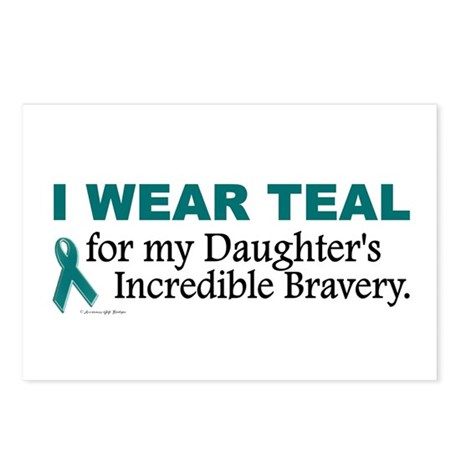 Teal For My Daughter's Bravery 1 Postcards (Packag