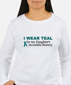 Teal For My Daughter's Bravery 1 T-Shirt