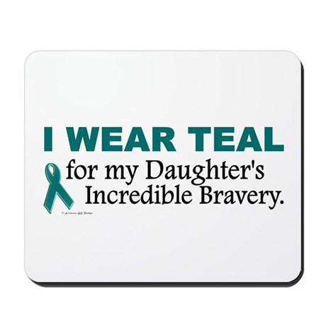 Teal For My Daughter's Bravery 1 Mousepad