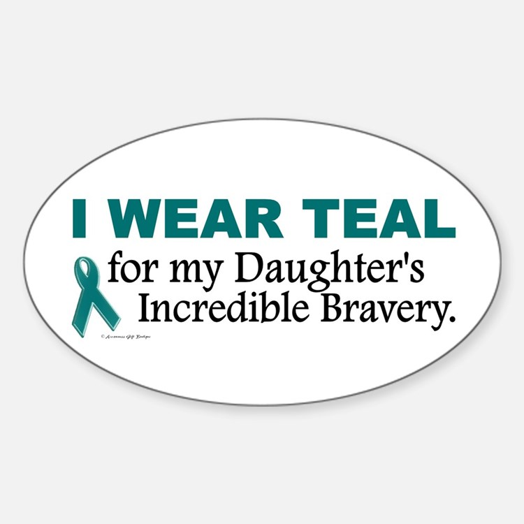 Teal For My Daughter's Bravery 1 Oval Decal