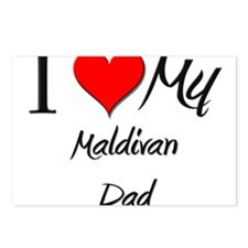I Love My Maldivan Dad Postcards (Package of 8)