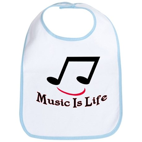 Music Is Life Bib