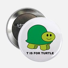 T Is For Turtle Button