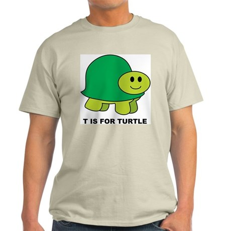 T Is For Turtle Ash Grey T-Shirt