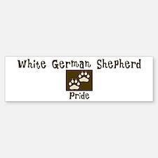 White German Shepherd Pride Bumper Bumper Bumper Sticker