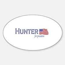 Duncan Hunter for president f Oval Decal