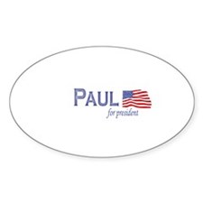 Ron Paul for president flag Oval Decal