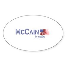 John McCain for president Oval Decal
