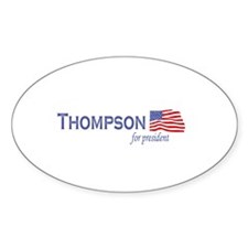 Fred Thompson for president f Oval Decal