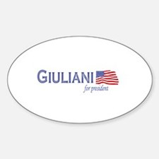 Rudy Giuliani for president f Oval Decal
