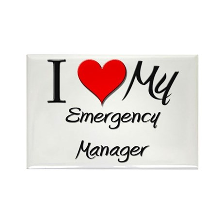 I Heart My Emergency Manager Rectangle Magnet