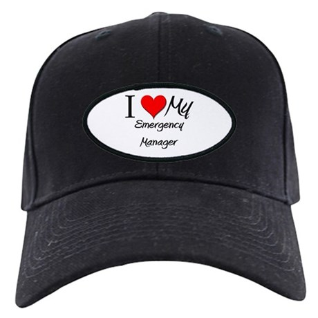 I Heart My Emergency Manager Black Cap