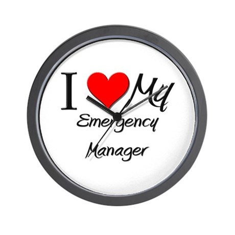 I Heart My Emergency Manager Wall Clock