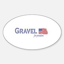 Mike Gravel for president fla Oval Decal