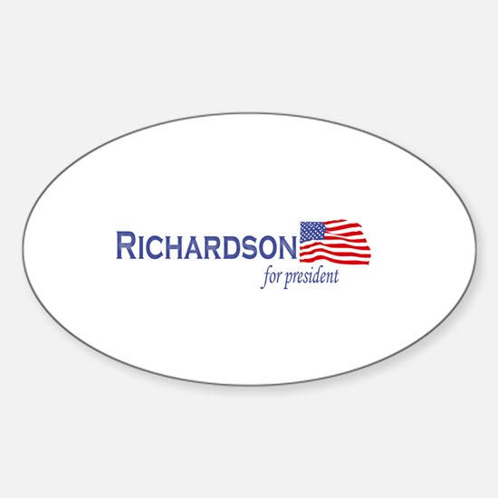Bill Richardson for president Oval Decal