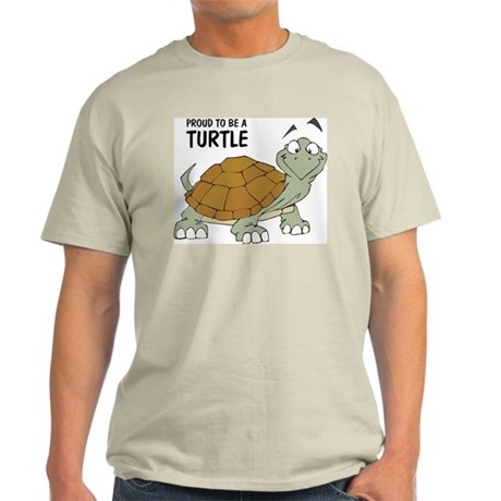 Proud To Be A Turtle Ash Grey T-Shirt