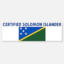 CERTIFIED SOLOMON ISLANDER Bumper Bumper Bumper Sticker