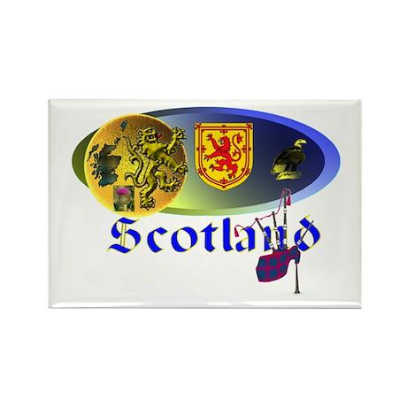 Dynamic Scotland.1 Rectangle Magnet