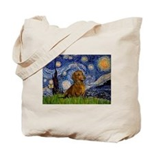 Starry Night & Dachs (#1) Tote Bag