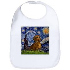 Starry Night & Dachs (#1) Bib