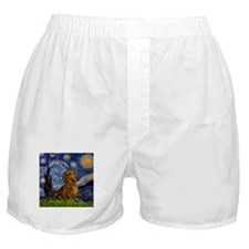 Starry Night & Dachs (#1) Boxer Shorts