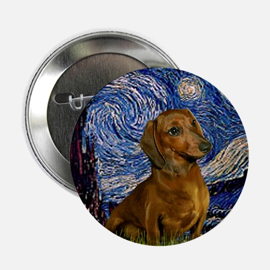 Starry Night & Dachs (#1) Button