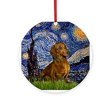 Starry Night & Dachs (#1) Keepsake (Round)