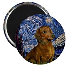 Starry Night & Dachs (#1) Magnet