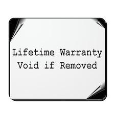 """""""Warranty"""" Mousepad"""