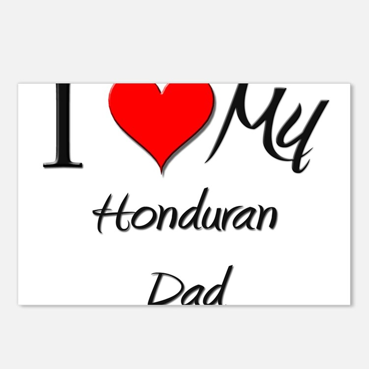 I Love My Honduran Dad Postcards (Package of 8)