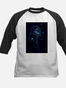 Blue Abstract Human Brain & Spinal Baseball Jersey