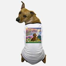 Cloud Angel & Dachshund Dog T-Shirt