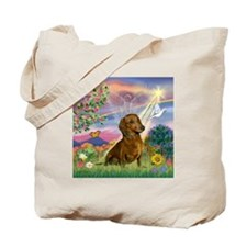 Cloud Angel & Dachshund Tote Bag