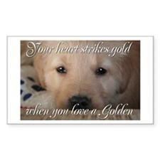 Your heart strikes gold Rectangle Decal
