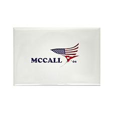 James H. McCall 08 flag Rectangle Magnet