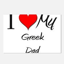 I Love My Greek Dad Postcards (Package of 8)