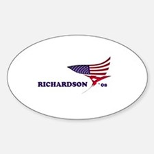 Bill Richardson 08 flag Oval Decal