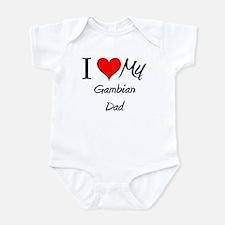 I Love My Gambian Dad Infant Bodysuit