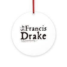 Sir Francis Drake Ornament (Round)