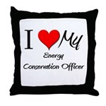 I Heart My Energy Conservation Officer Throw Pillo