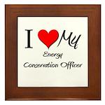 I Heart My Energy Conservation Officer Framed Tile