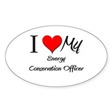 I Heart My Energy Conservation Officer Decal