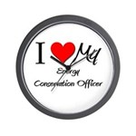 I Heart My Energy Conservation Officer Wall Clock