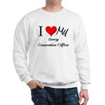 I Heart My Energy Conservation Officer Sweatshirt