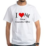 I Heart My Energy Conservation Officer White T-Shi