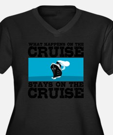 Unique Cruise souvenirs Women's Plus Size V-Neck Dark T-Shirt
