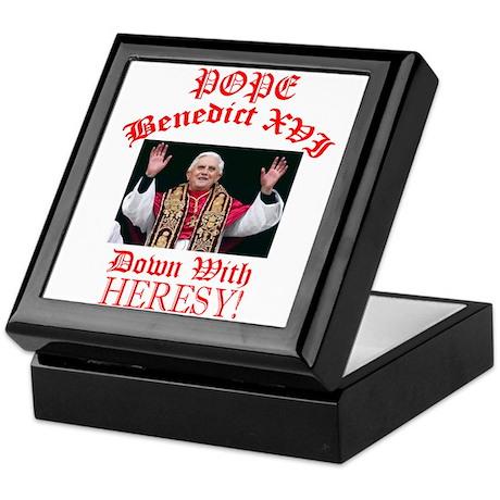 POPE BENEDICT (Down with Heresy!) Keepsake Box