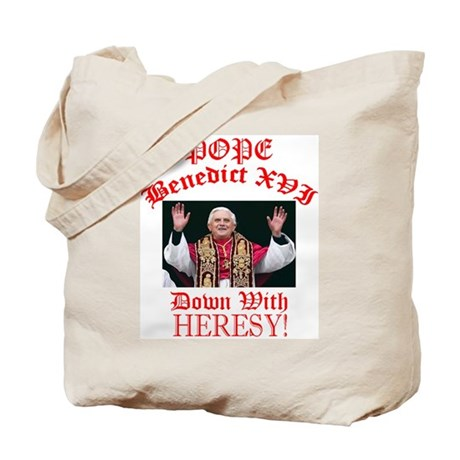 POPE BENEDICT (Down with Heresy!) Tote Bag