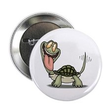 Funny Turtle Button